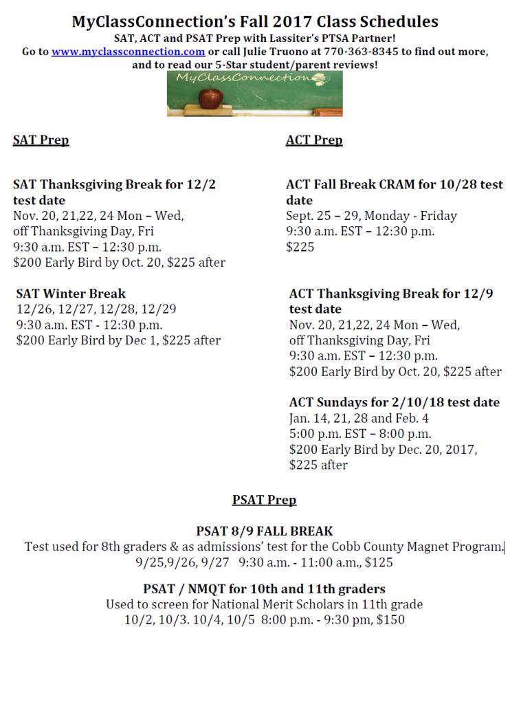 Fall schedule updated 090817